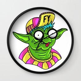 Fruity Yoda Wall Clock