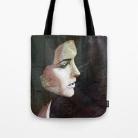 the lights Tote Bags featuring LIGHTS by SAMHAIN