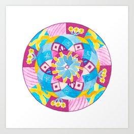 A Pleasant Dream Mandala Art Print