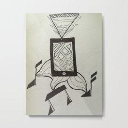 Abstract iPod Ari Art Metal Print