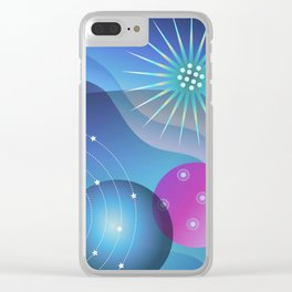 Planetary Party Clear iPhone Case