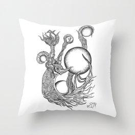 Orbs Throw Pillow