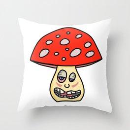 MR. Shroom Throw Pillow