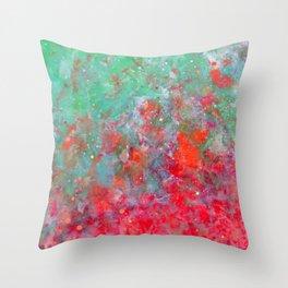 Flower Bed - Original Abstract Art by Vinn Wong Throw Pillow
