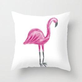 Flaming Pink Flamingo Throw Pillow