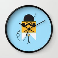 persona Wall Clocks featuring Persona Series 002 by Sobriquet Studio