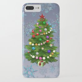 Christmas tree & snow v.2 iPhone Case