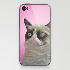 grumpy-cat-pink iPhone & iPod Skin