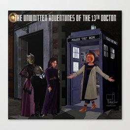 The 13th Doctor and the Paternoster Detective Agency_detail Canvas Print
