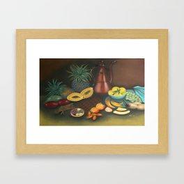 Fruits, Chocolate & Copperpot Framed Art Print