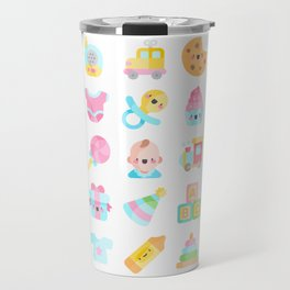 CUTE BABY PATTERN Travel Mug