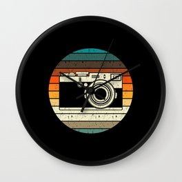 Vintage Retro Camera Photographer Gift Wall Clock