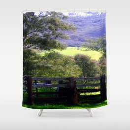 Cattle Yard Shower Curtain