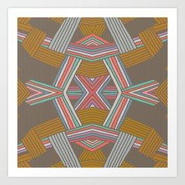 Native Pinstripe Art Print