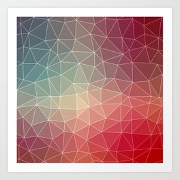 Abstract Geometric Triangulated Design Art Print
