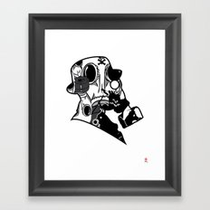My Dexterous Shadow  B&W 1 of 4 Framed Art Print