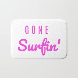 Gone Surfin' Pink Bath Mat