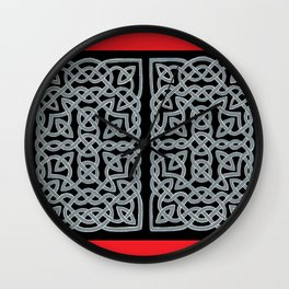 Black and Gray Celtic Interlace Wall Clock