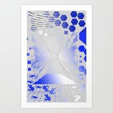 Digitize (White Background) Art Print