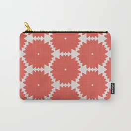 Red Stars of Christmas Pattern Geometric Abstract Carry-All Pouch