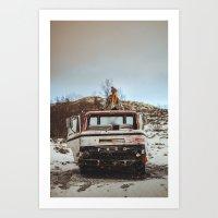 Sophies truck Art Print