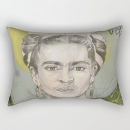 """Frida """"Pies, para que los quiero?"""" Rectangular Pillow"""