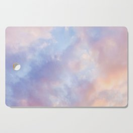 cotton candy clouds Cutting Board