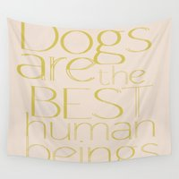 dogs Wall Tapestries featuring Dogs by Suchita Isaac