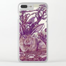 Rabbit Horns Clear iPhone Case