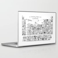 periodic table Laptop & iPad Skins featuring Periodic Table of the Elephants by DS Art