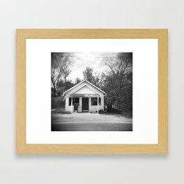 Small Town America Framed Art Print