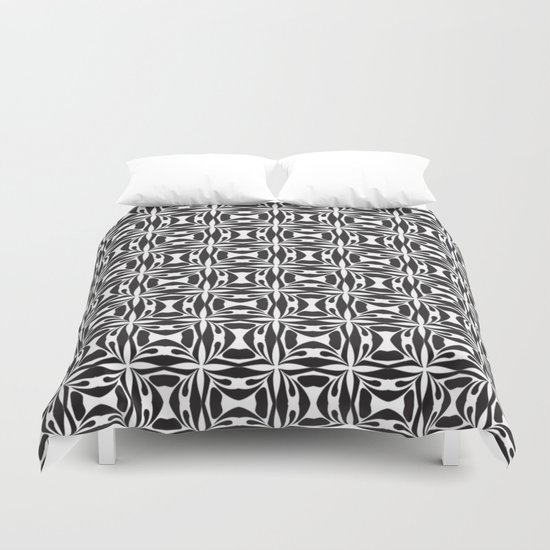 pattern black form 8 Duvet Cover