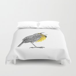Eastern meadowlark Duvet Cover