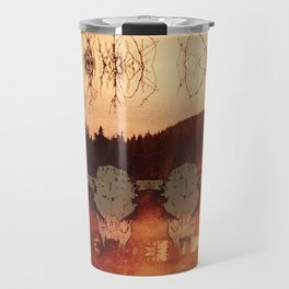 Atmospheric Black Metal SpiriT of the NortH Moose SkuLL and Lake Travel Mug