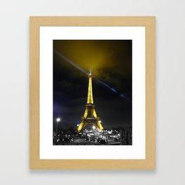 saturday night Eiffel tower Paris by night Framed Art Print