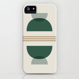 Emerald Abstract Half Moon 2 - Green iPhone Case