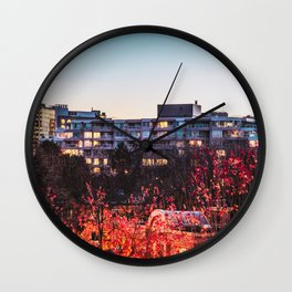Natural IR Leaves Wall Clock