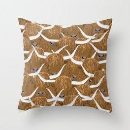Scottish Highland Cows Throw Pillow