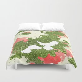 Leaf Bird Duvet Cover