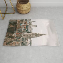 Seeing old and new architecture within Brussels cityscape Rug