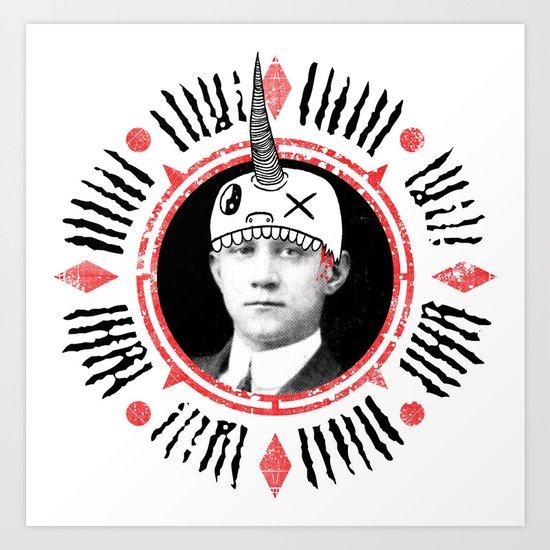 Head Hat Art Print