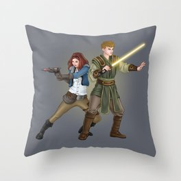 The Smuggler and the Consular Throw Pillow