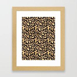 Animal print - natural gold Framed Art Print