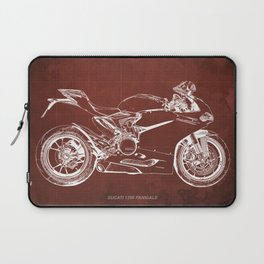 02- D Superbike 1299 Panigale 2015 red Laptop Sleeve