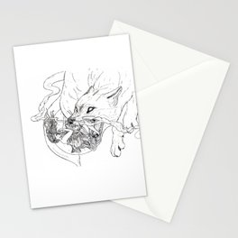 Sun Goddess chased by the wolf Stationery Cards