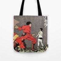 akira Tote Bags featuring Akira by Rafael Romeo Magat