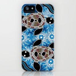 Aboriginal Art - Sea Turtles iPhone Case