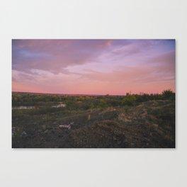 Summer landscape. Sunse. Canvas Print