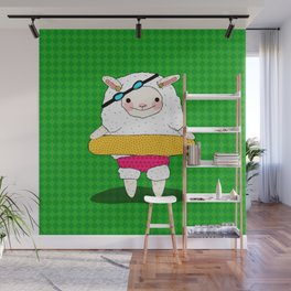 Let's Go To A Pool (Lambie) Wall Mural