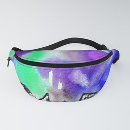 Northern Lights and Mountains -Purple Palette Fanny Pack